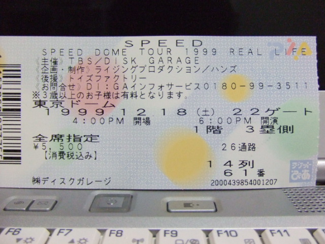 SPEED DOME TOUR 1999 REAL LIFE、SPEED